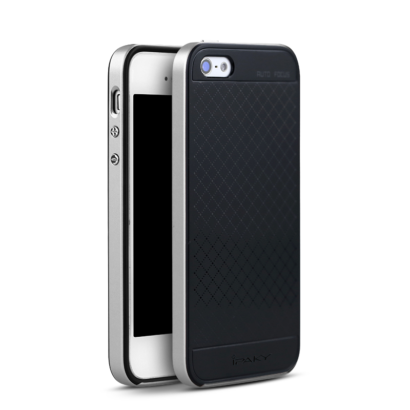 IPAKY CASE iPhone 5 SE- Silver