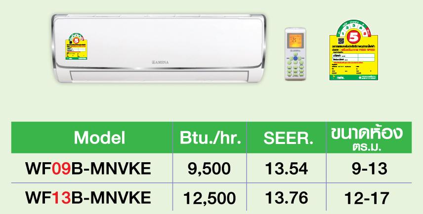 AMENA WF09B-MNVKE 9,000 BTU.