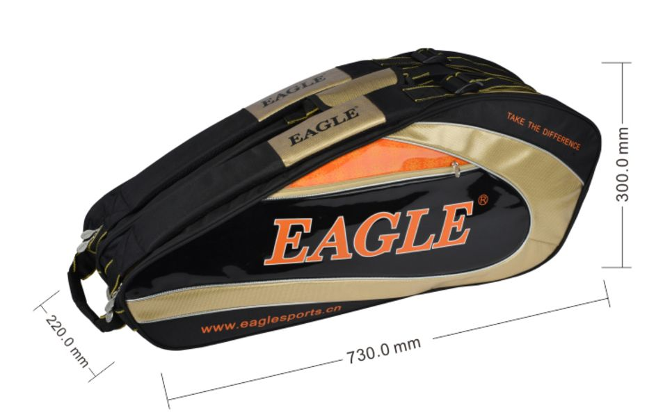 กระเป๋า Eagle ใบกลางสีดำ/ทอง/ส้ม