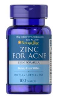 ซิงค์ วิตามินรวมเพื่อรักษาสิว Zinc for acne Puritan's Pride