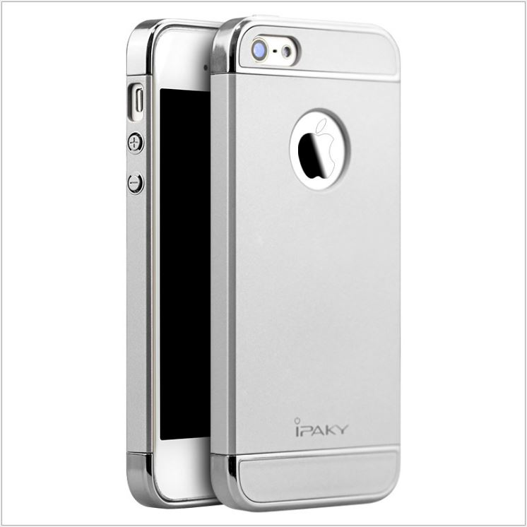 IPAKY CASE 360 3 in 1 iPhone 5 / 5s / SE- Silver