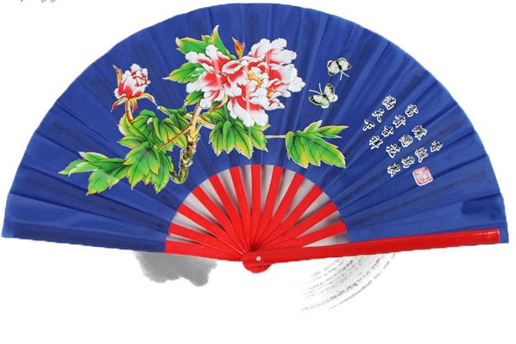 พัดลายดอกสีน้ำเงิน - Kungfu shops : Inspired by LnwShop.com