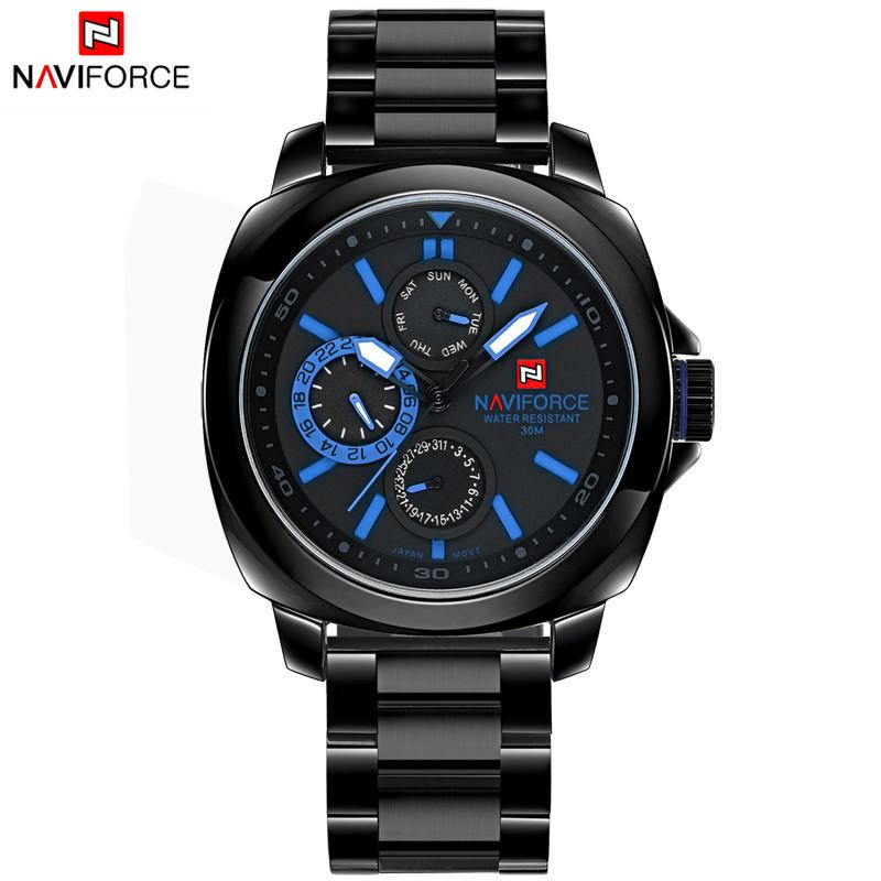 นาฬิกา Naviforce รุ่น NF9069M Blue Black นาฬิกาข้อมือสุภาพบุรุษ สีฟ้า ดำ ของแท้ รับประกันศูนย์ 1 ปี ส่งพร้อมกล่อง และใบรับประกันศูนย์ ราคาถูกที่สุด