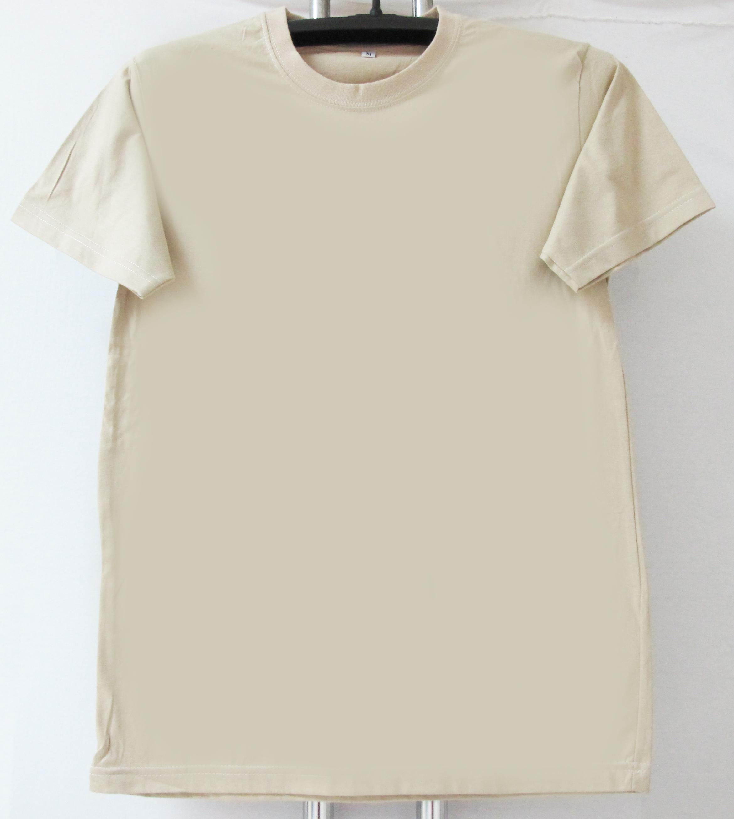 COTTON100% เบอร์32 เสื้อยืดแขนสั้น คอกลม สีกากี