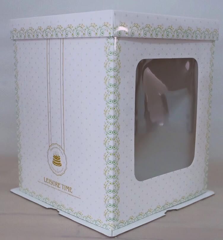 กล่องเค้กฟองดอง, กล่องเค้กทรงสูง ขนาด4 ปอนด์