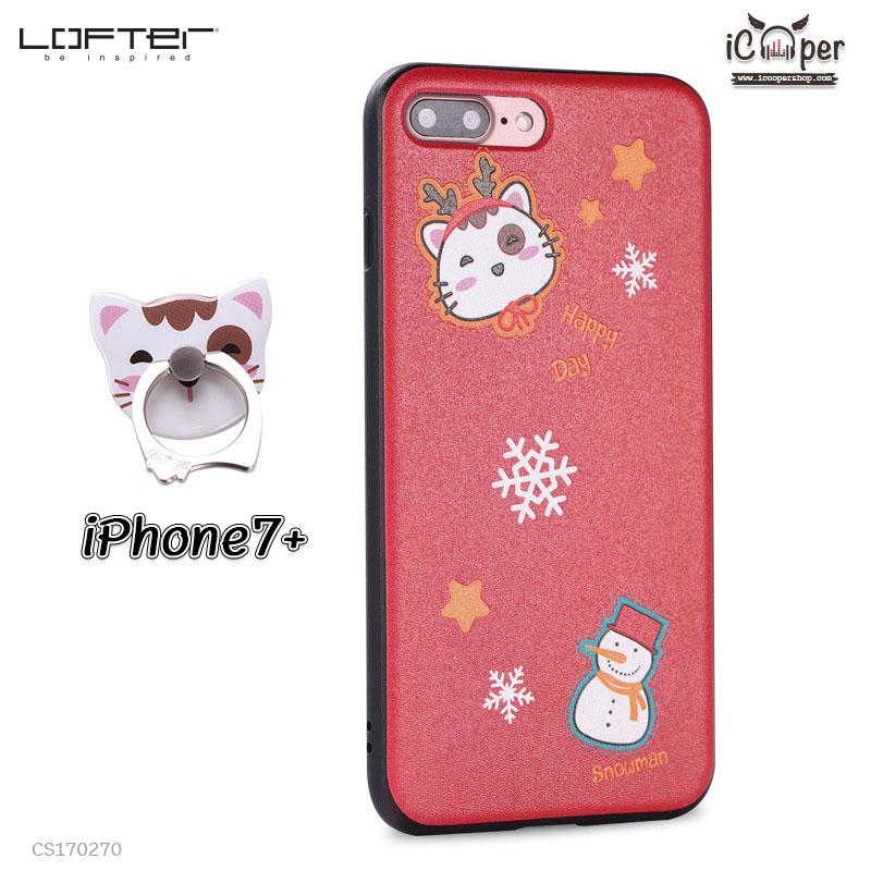 LOFTER Soft Case - Cat Reindeer (iPhone7+)