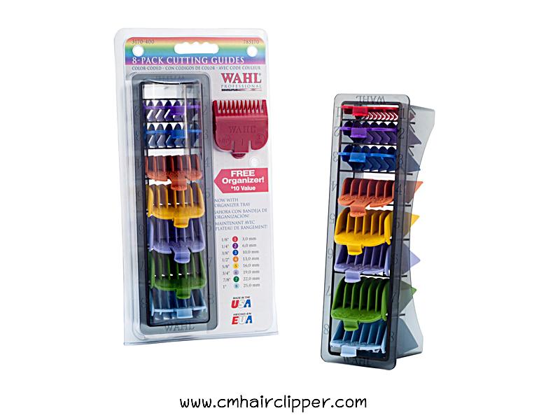 ชุดรองหวีสี WAHL Color Comb เบอร์ 1-8