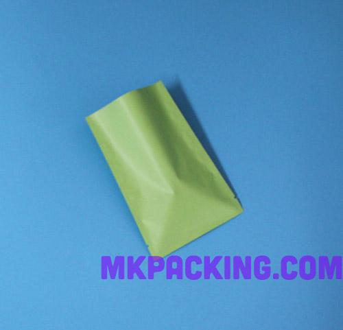 ถุงซีล 3 ด้าน -- สีเขียวด้าน