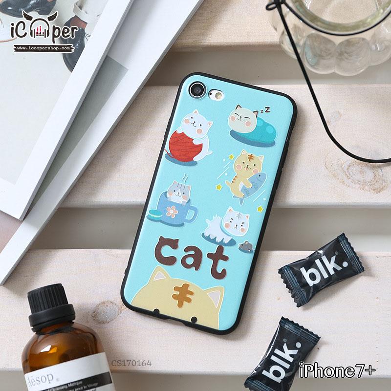 3D Case - Five Cat (iPhone7+)