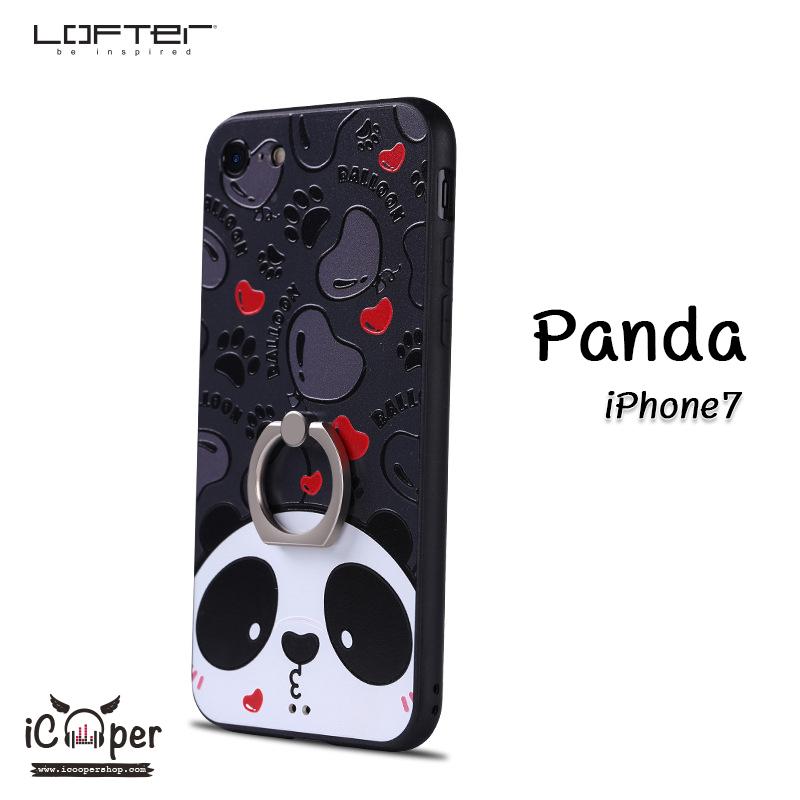 LOFTER iRing Cartoon Case #1 - Panda (iPhone7)