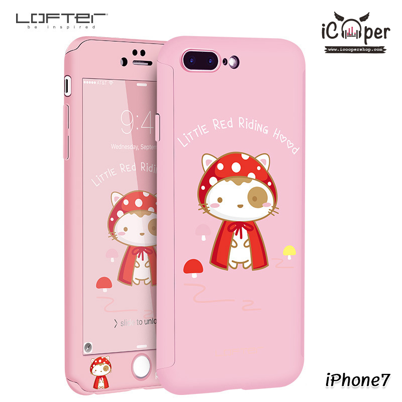 LOFTER Cat Full Cover - Little Red Riding Hood (iPhone7)