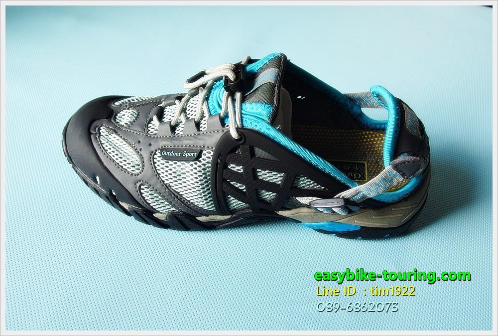 รองเท้า Easybike CFL / สืดำ-เทา แถบสีฟ้า จะลุยน้ำจะปั่น ปีนเขา