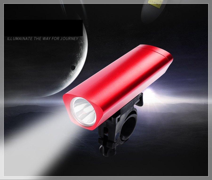 ไฟหน้า LED 120 ลูเมน ใช้ถ่าน 18650 กันน้ำ