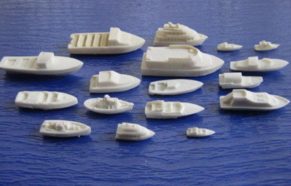 เรือชนิดต่างๆ สเกล 1:87 ชุด 17 ลำ