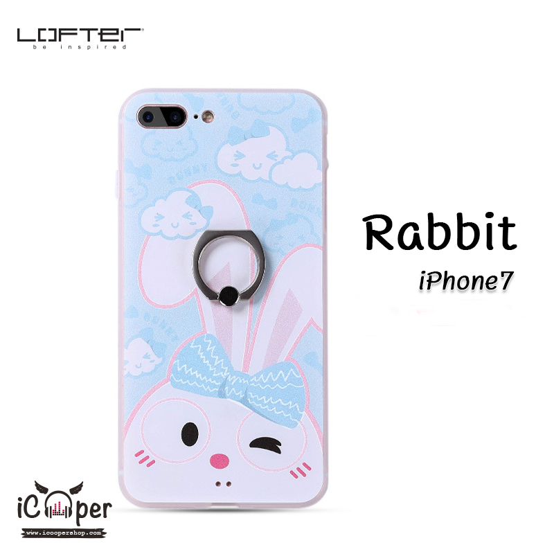 LOFTER iRing Cartoon Case #1 - Rabbit (iPhone7)
