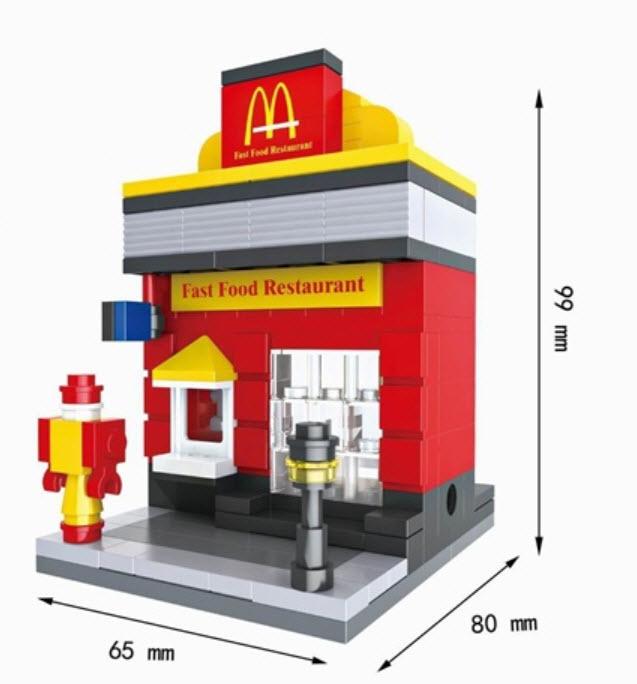 มินิโมเดล ร้าน Fast Food (Mc)