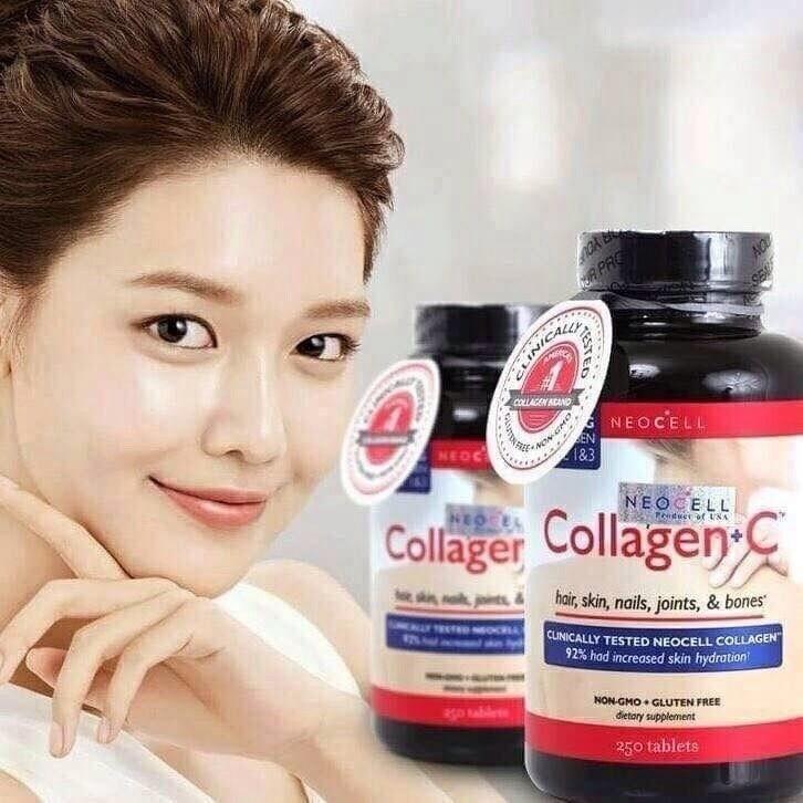 #Neocell Super Collagen+C 6000 MG, Type 1 & 3 (1กระปุกมี250เม็ด) แท้100%