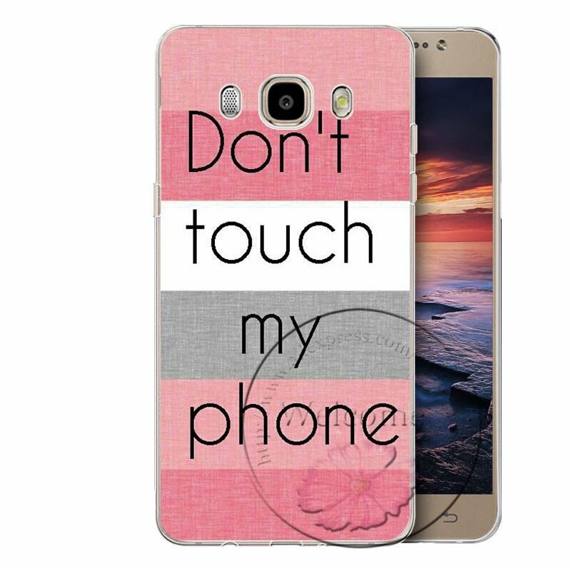 เคสซัมซุง j7 2016 เคสพลาสติก don't touch my phone โทนพื้นสีชมพู