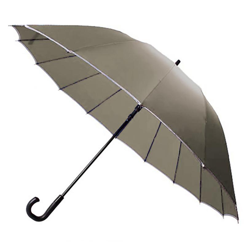 30'' 16 Ribs Big Size Walking Umbrella ร่มยาวขนาดใหญ่ต้านลมแรง16ก้าน30นิ้ว - กากี