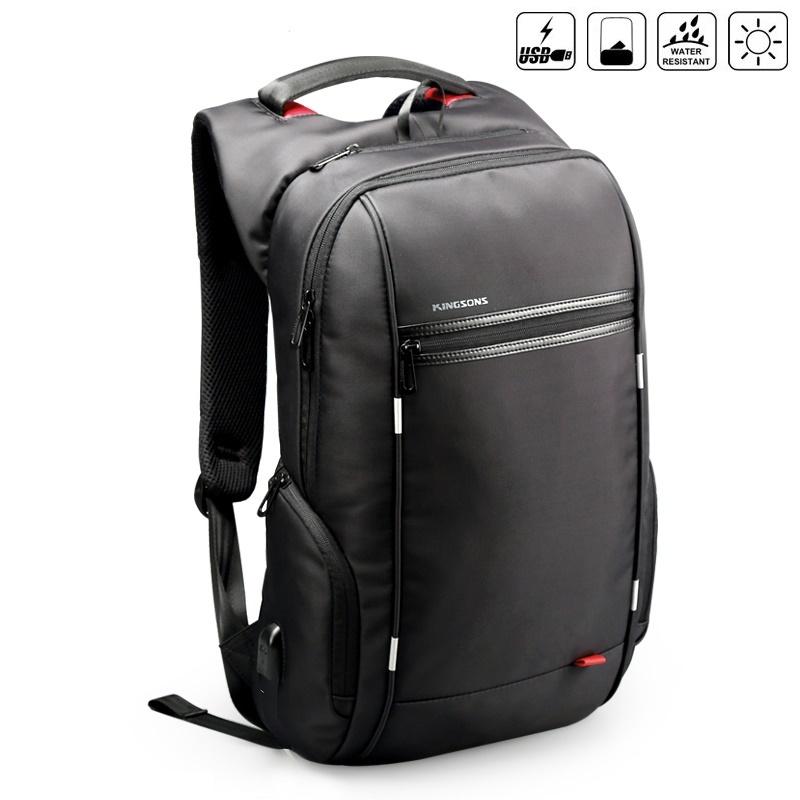 """กระเป๋าเป้โน๊คบุ๊คสะพายหลัง รุ่น Energy Lite กันน้ำ + usb port สำหรับหน้าจอ 13-15.6"""" หรือ macbook"""
