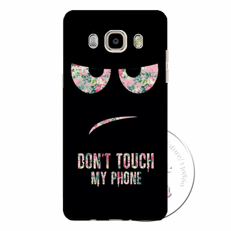 เคสซัมซุง j7 2016 เคสพลาสติก don't touch my phone รูปตาขวาง
