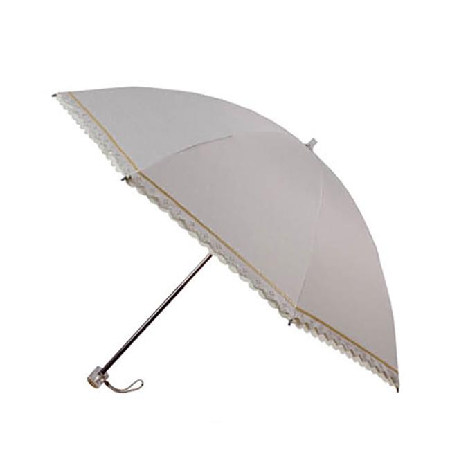 UV cut 100% Lady Lace Folding Umbrella ร่มพับ กันยูวี100% ลายลูกไม้สุภาพสตรี - ครีม
