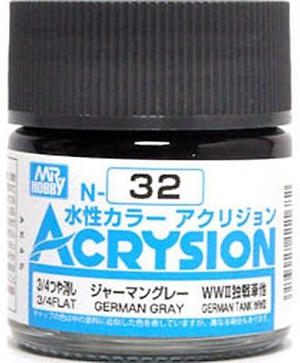 ACRYSION N32 3/4FLAT GERMAN GRAY สีเทาเยอรมันด้าน3/4