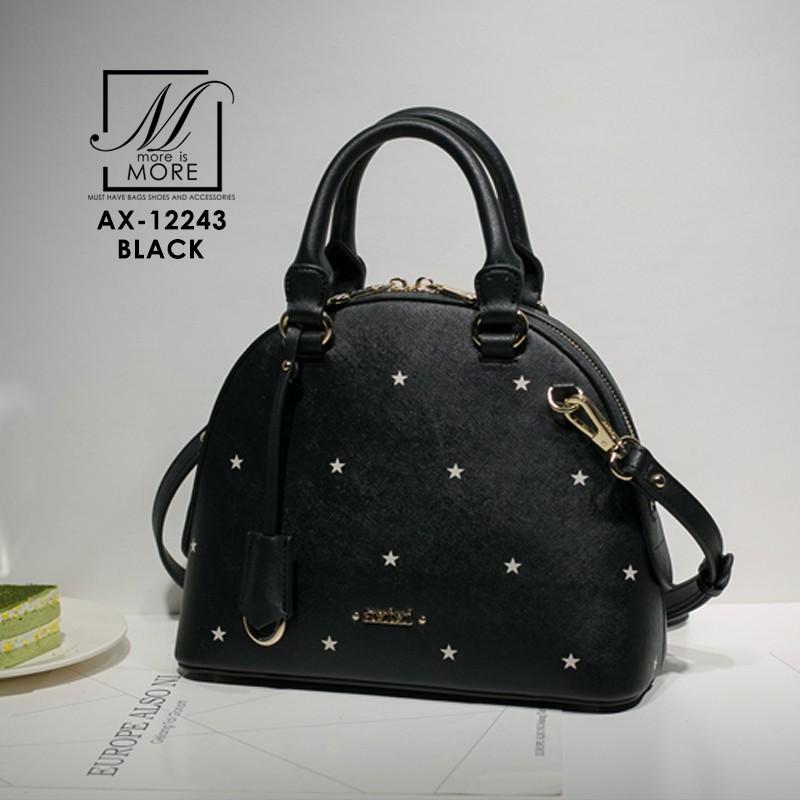 กระเป๋าสะพายกระเป๋าถือ แฟชั่นนำเข้าพิมพ์ลายรูปดาวสไตล์เกาหลี AX-12243-BLK (สีดำ)