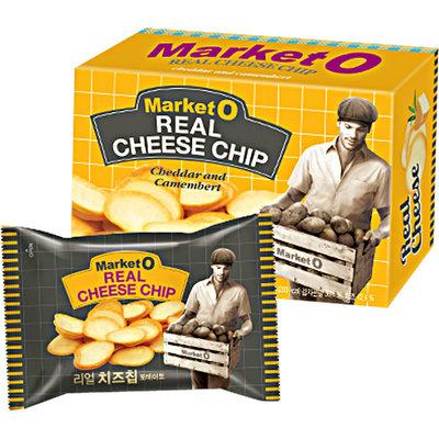 *** พร้อมส่ง *** Market O Real Cheese Chip มันฝรั่งแผ่นชีส ขนมเกาหลี ขนาด 60 กรัม