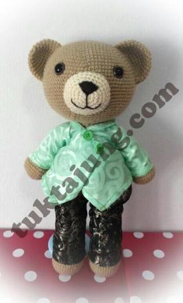 ตุ๊กตาหมี ถักโครเชต์