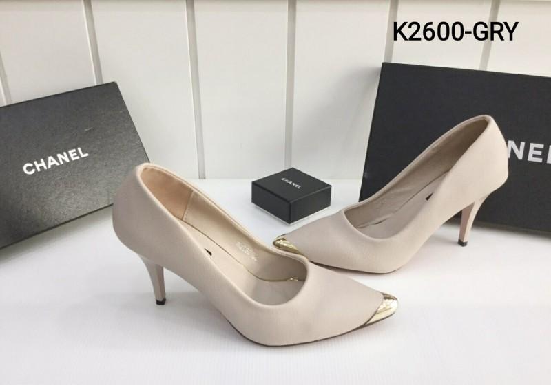 พร้อมส่ง รองเท้าส้นสูงแฟชั่น K2600-GRY [สีเทา]
