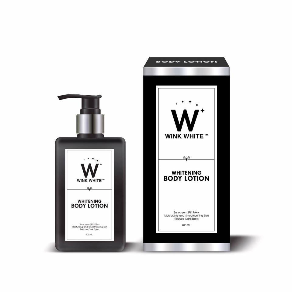 Wink White Whitening Body Lotion โลชั่นวิงค์ไวท์