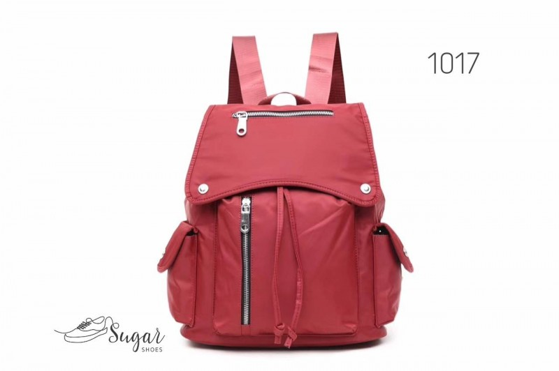 พร้อมส่ง กระเป๋าเป้ผู้หญิงสไตล์ญี่ปุ่น-1017 [สีแดง]