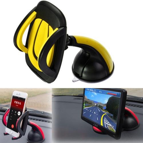 ที่หนีบ/จับ มือถือในรถ แบบดูดติดกระจกรถยนต์ คุณภาพเยี่ยม( สีเหลือง)