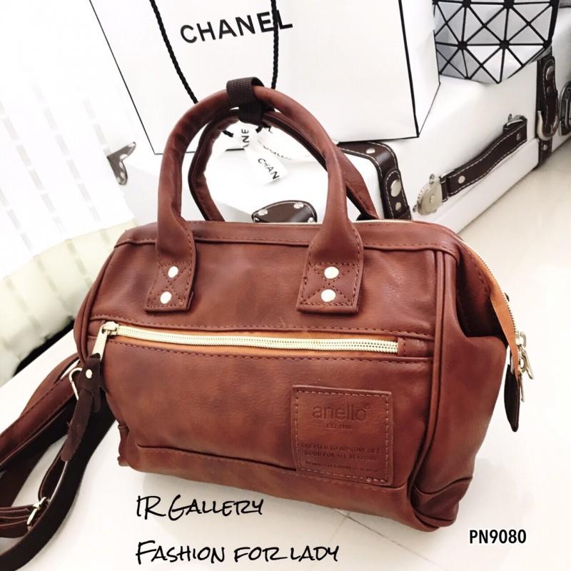 กระเป๋าถือ กระเป๋าสะพายข้างผู้หญิง งานพรีเมี่ยม วัสดุหนังพียูคุณภาพดี Anello [สีน้ำตาล ]