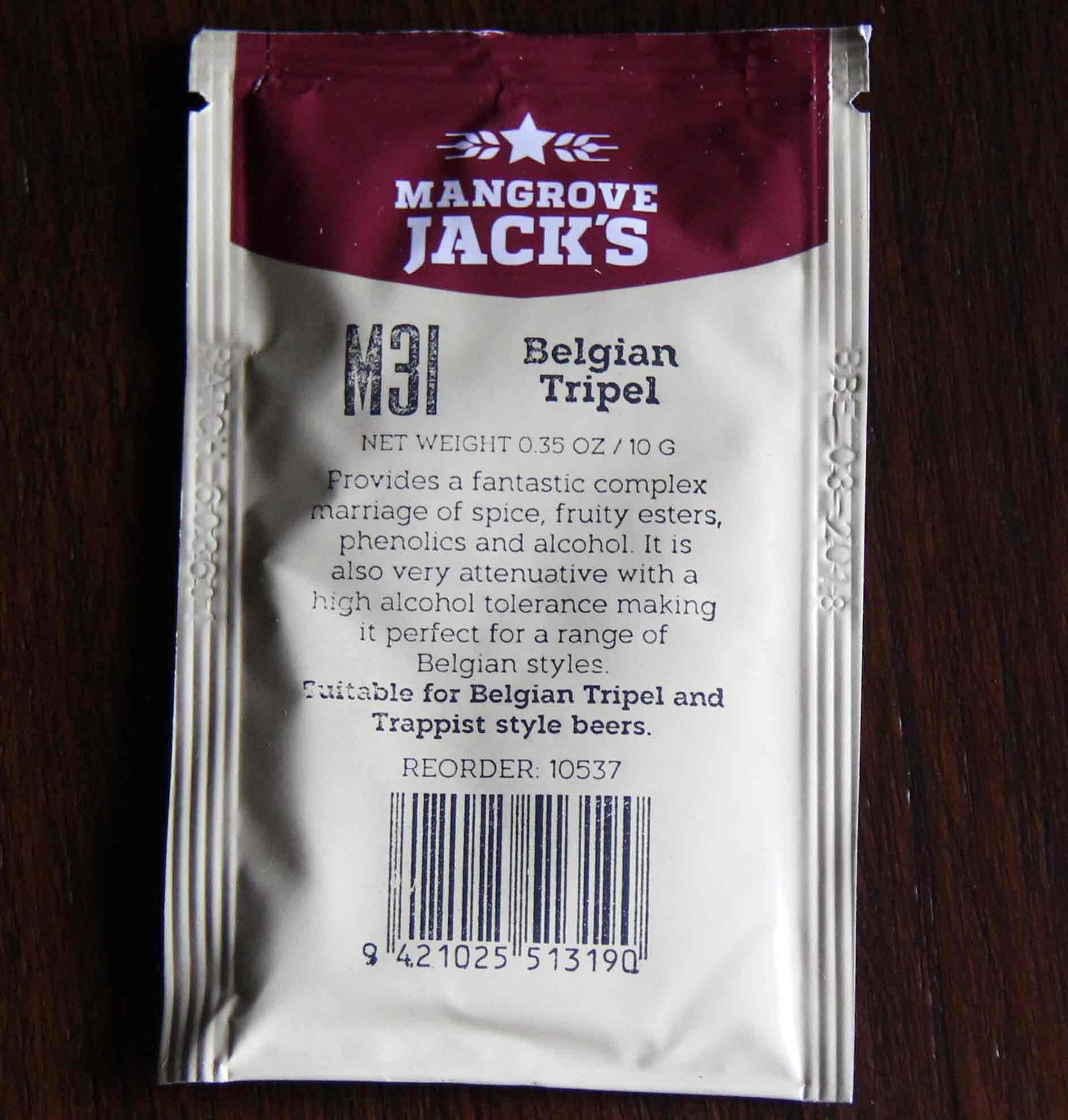 Mangrove Jack's - M31 BELGIAN TRIPEL Dry Yeast