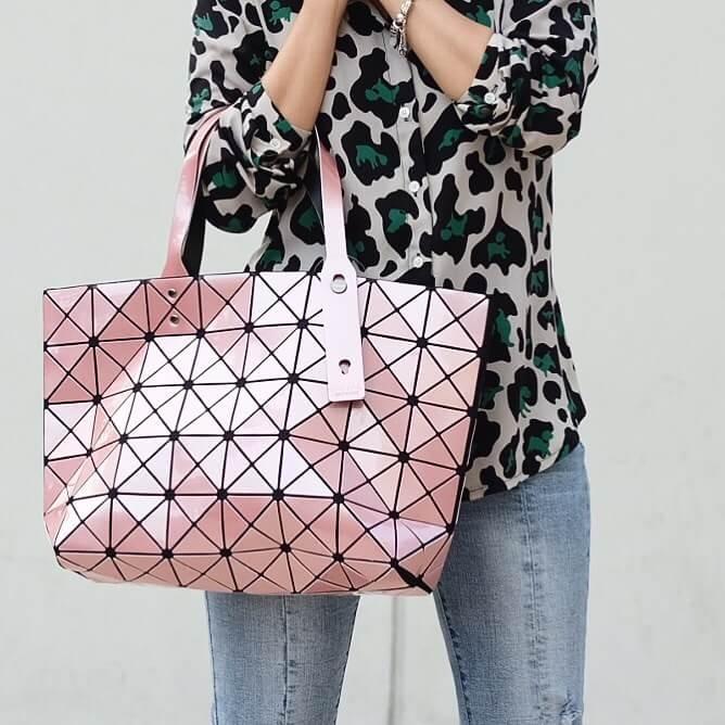 กระเป๋าสะพายแฟชั่น กระเปาสะพายข้างผู้หญิง Bao Bao 7*8 NoLogo [สีชมพู ]