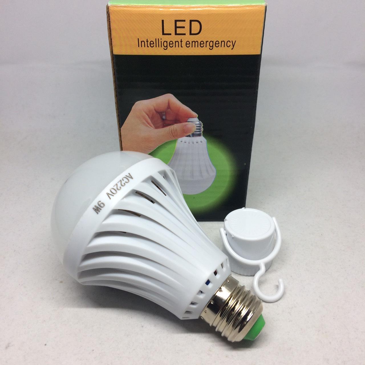 หลอดไฟฉุกเฉิน LED 9w E27 220V แสงสีขาว