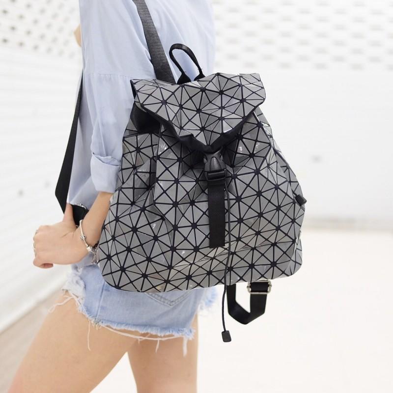 กระเป๋าเป้ผู้หญิง กระเป๋าสะพายหลังแฟชั่น BAO BAO เป้ (No logo) [สีเทา]
