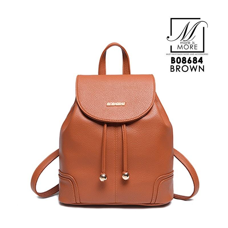 กระเป๋าสะพายเป้กระเป๋าถือ เป้แฟชั่นนำเข้า B08684-BRO (สีน้ำตาล)