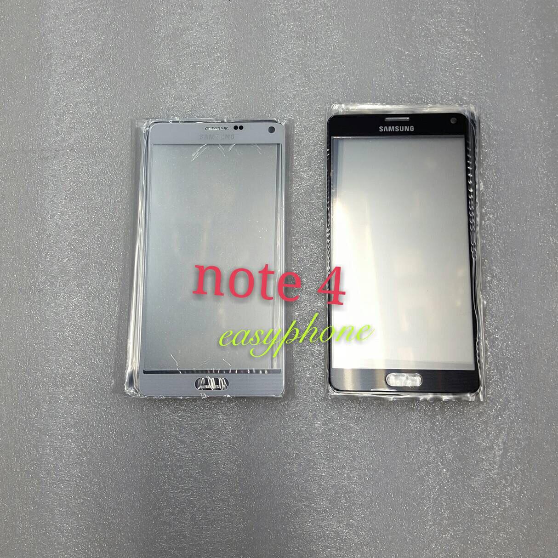 แผ่นกระจกหน้าจอ Galaxy Note4 สีขาว//สีดำ