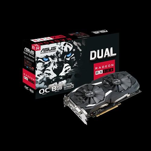 ASUS DUAL RADEON RX580 OC 8GB GDDR5 256BIT