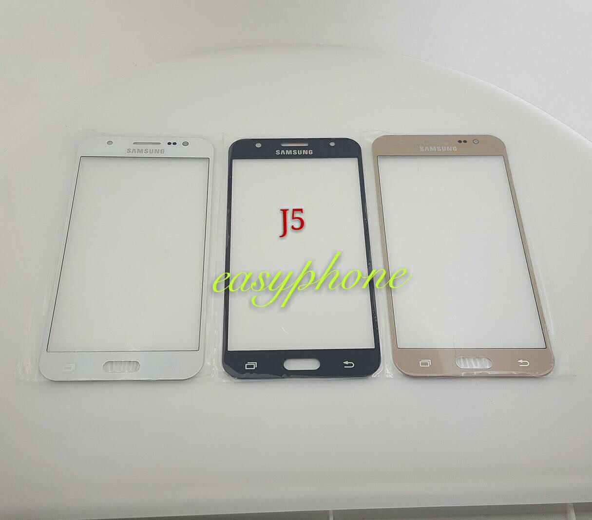 แผ่นกระจกหน้าจอ Galaxy J5 สีขาว//สีดำ//สีทอง