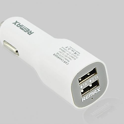 ที่ชาร์จในรถยนต์ รีแมกซ์ Remax Car Charger 2 Port USB สีขาว 3.1A ราคา 290 บาท