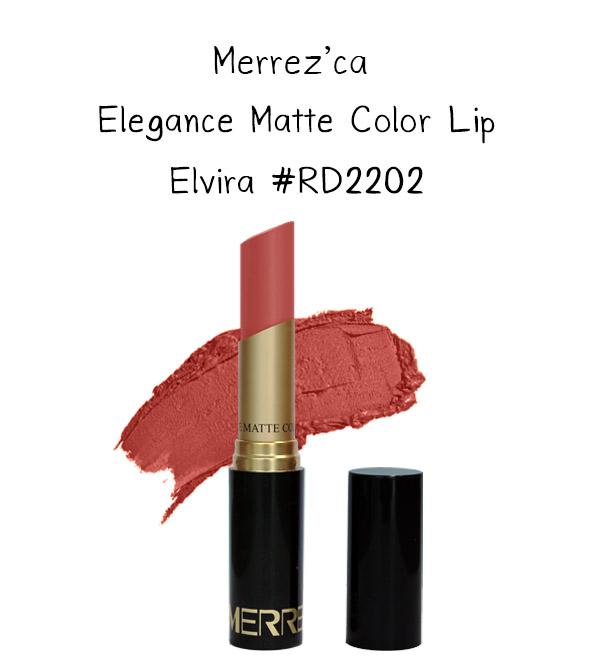 Merrez'Ca Elegance Matte Color Lip #RD2202 Elvira