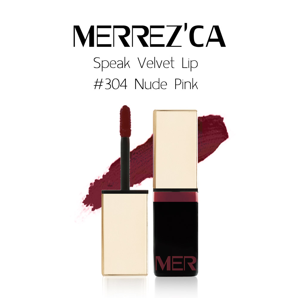 Merrez'Ca Speak Velvet Lip #304 Nude Pink