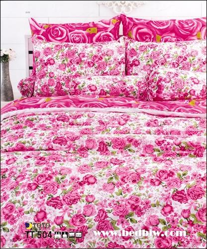 ชุดเครื่องนอนtoto ชุดผ้าปูที่นอนtoto ลายดอกกุหลาบ FLOWER รุ่นTT504