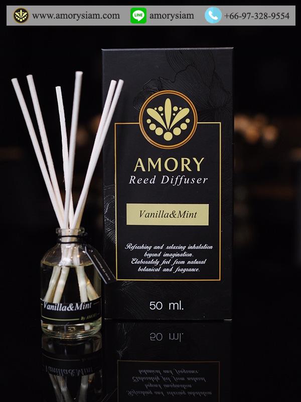 กลิ่น Vanilla & Mint Scent 50 ml. ก้านไม้หอม Aroma Reed Diffuser