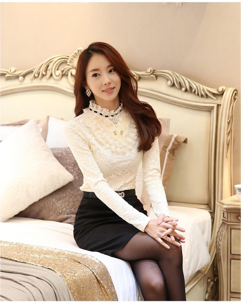รับตัวแทนจำหน่ายเสื้อลูกไม้แฟชั่นเกาหลีแขนยาวไฮโซสุดๆ