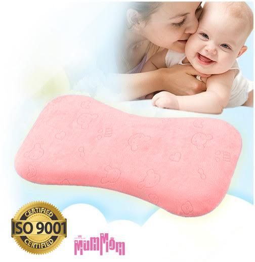 MumMom มัมมัม Baby Pillow สีชมพู หมอนทารก หมอนเด็ก หมอนหัวทุย สำเนา